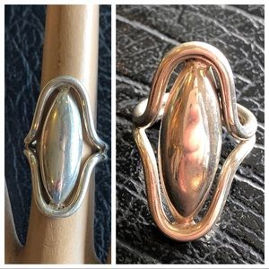 STERLING SILVER 925 OBLONG CHUNKY RING